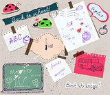 scrapbooking set with school elements.