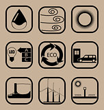 Ecology simple icon set