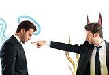 Devil accuses angel