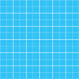 White graph grid on cyan paper seamless pattern