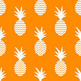 Pineapple simple vetor seamless background. Textile pattern.
