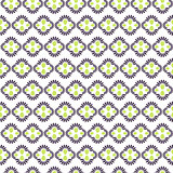 Abstract geometric flower seamless pattern.