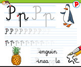 how to write letter p