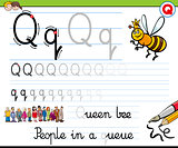 how to write letter q