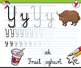 how to write letter y