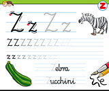 how to write letter z