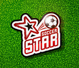 Soccer badge logo template, football design.