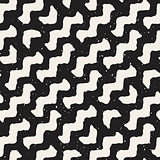 Vector Seamless Wavy Diagonal Lines Pattern