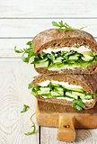 Healthy green sandwich.