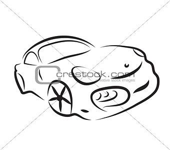 car silhouette logo sketch vector