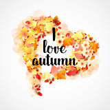 Autumn Frame in Shape of Heart