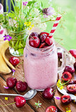 Fresh homemade healthy berry smoothie