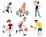 Six athletes set