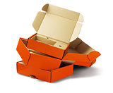 Orange Package Boxes