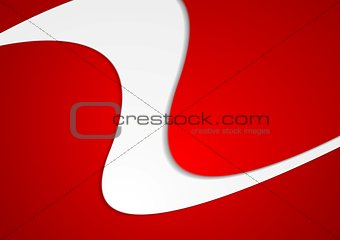 Abstract red wavy brochure corporate design