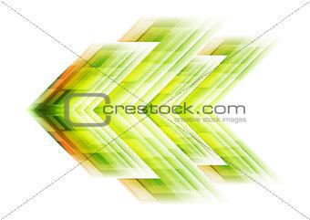 Green arrow tech background
