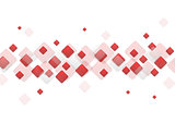Red geometric squares on white background