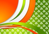St. Patrick Day background with Irish colors