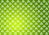 Clovers shamrocks green abstract texture background