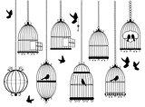 Vector Bird Cages