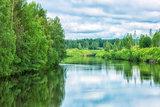 Umea River in Northern Sweden