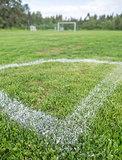 Corner of Soccer Pitch