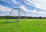 Soccer Goal on Soccer Pitch