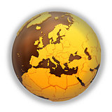 Europe on chocolate Earth