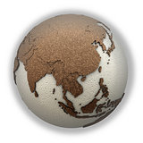 Southeast Asia on light Earth
