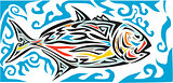 Giant Trevally Side Tribal Art