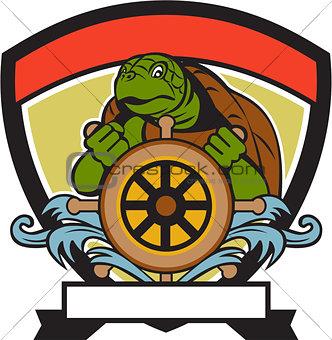 Ridley Turtle At Helm Crest Retro