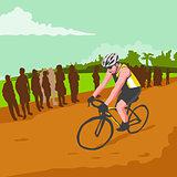Cyclist Racing WPA
