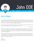 Modern cover letter resume cv template