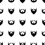 Beard Silhouette Seamless Pattern.