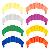 Colorful Paper Scrolls. Colored Ribbons.