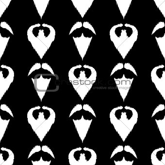 Beard Silhouette Seamless Pattern