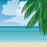 Palm beach horizon Tourism journey sea.