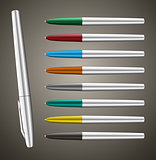 Colorful metallic ball pens