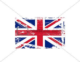 Grunge British ink splattered flag vectors