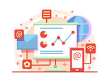 Internet marketing concept illustration