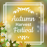 Autumn harvest festival