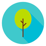 Garden Green Tree Circle Icon