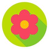 Garden Flower Circle Icon
