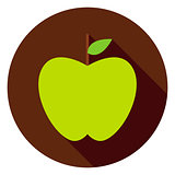 Green Apple Circle Icon