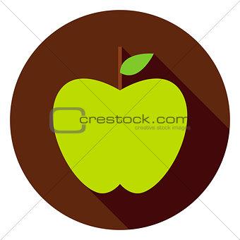 Green Apple Circle Icon