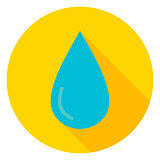 Water Drop Circle Icon