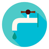 Water Faucet Circle Icon