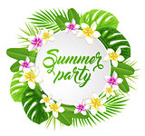 Banner for summer party