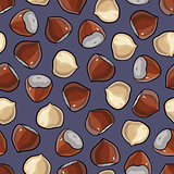 Hazelnut seamless pattern.