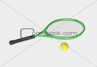 green tennis racket